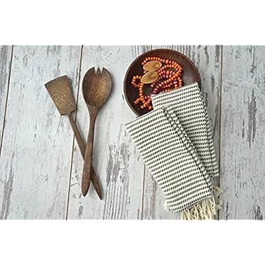Set of 2 Hand-loomed Natural Dish Clothes, Kitchen Towel Set, Home Gift, %100 Cotton Soft& Tea Towel Set, Extra Soft Towel, Guest Towel, Eco-friendly Hand Towel Set