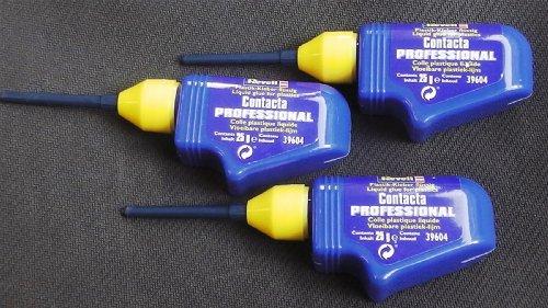 3 packs Bottles of Revell Contacta Professional Model Glue 25g Nozzle X3