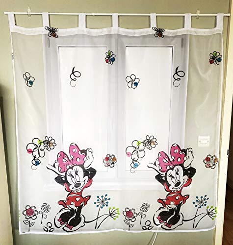 Polontex Disney - Tenda con passanti, motivo: Minnie Mouse, 75 x 160 cm