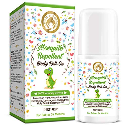 Mom & World Baby Mosquito Repellent Body Roll On 50ml - 100% Naturally Derived
