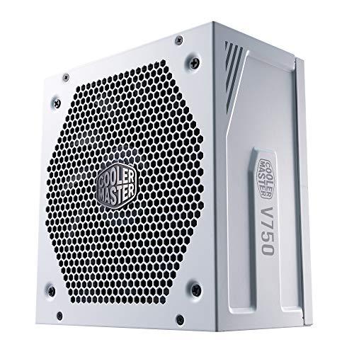 Cooler Master Alimentatore V750 Gold V2, Presa EU, 750 W, 80 Plus Gold, Modulare, PSU ATX, Ventola FDB Silenziosa 135mm, modalità Semi-Fanless, Garanzia 10 Anni, Cavi PCI-e 16 AWG, White Edition