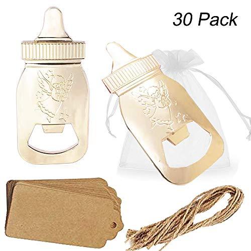 Amajoy - Paquete de 30 abrebotellas con forma de abridor de botellas con bolsa transparente, recuerdo de boda, fiesta, recuerdos