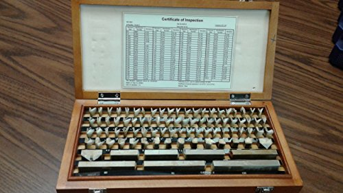 87 PCS/SET METRIC GAGE BLOCK SET, GRADE 2 W. CERTS #702F-755