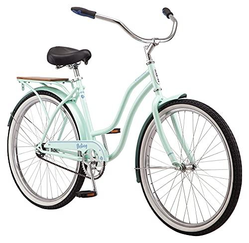 Schwinn Destiny Womens Beach Cruiser Bike, Single Speed, 26-Inch Wheels, Sea Foam
