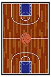 Furnish My Place 690 Rust Basketball Childrens Play Area Rug for Bathroom, Playroom & Kindergarten Classroom, Anti Skid Rubber Backing, Rectangle (4'5'x6'9')
