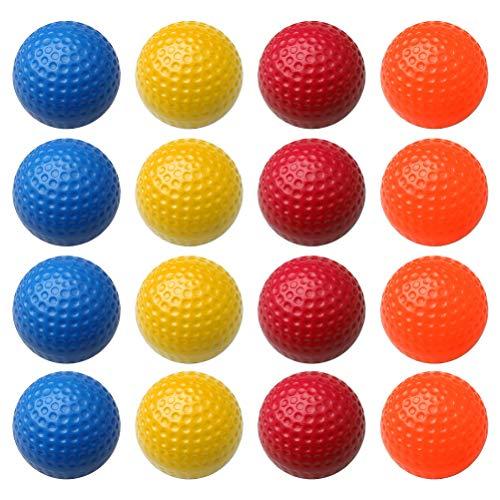 kuou Lot de 16 balles de golf en mousse pour entraînement intérieur et extérieur (orange, rouge,...