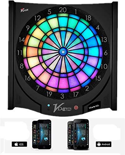 Sooiy Elektronische Darts Professional Training Global Online-Wettbewerb Online-Spiele 6 Darts-Maschine Flexibel und sicher 15,5 Inches Dartboards
