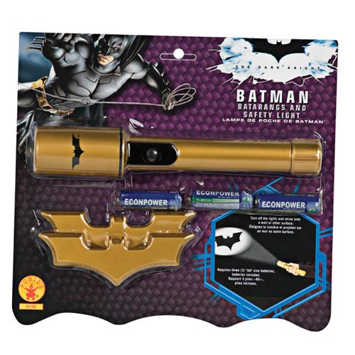 Rubies Costume Co 32987 Batman Dark Knight Batman Batarangs and Safety Light