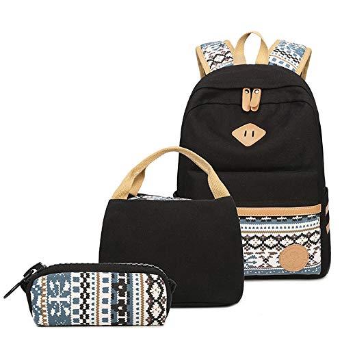 Generic Brands Female Canvas Travel Backpack Junior Students Teens...