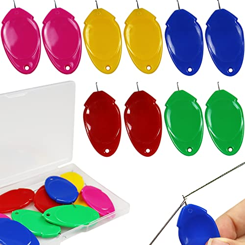 ARTCUTE 10 조각 핸드 재봉 멀티 컬러 플라스틱 와이어 루프 DIY 간단한 바늘 작은 눈 바늘 THREADER 핸드 기계 재봉 도구 재봉틀 (10)