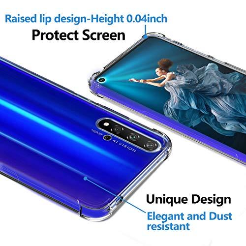 Ferilinso Hülle Kompatibel mit Huawei Nova 5T/ Honor 20, Ultra [Slim Thin] Kratzfestes TPU Gummi Weiche Haut Silikon Fall Schutzhülle für Huawei Nova 5T/ Honor 20 Hülle (Transparent) - 4