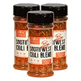 The Spice Lab No. 7101 - Southwest Chili Seasoning Blend Premium Gourmet Add to Chili, Soups or even ground meats to get that Southwest Flavor (No Fillers, Clean Label, All Natural) Kosher - 3 Pack
