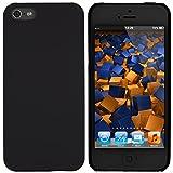 mumbi Schutzhülle für iPhone SE 5 5S Hülle (harte Rückseite) matt schwarz