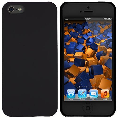 mumbi Hartschale kompatibel mit iPhone SE (2016) / 5S Handy Hard Case Handyhülle, schwarz, iPhone SE / 5S, mumbi_11665