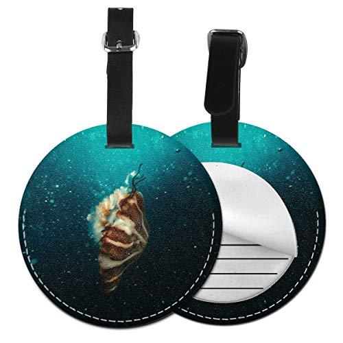 Maleta redonda subacuática personalizable de Slaytio de la etiqueta del equipaje de Brown y beige, etiqueta de la maleta de la pulsera del PVC