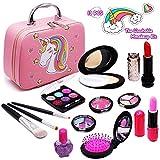 Senrokes Washable Makeup Unicorn Cosmetic Toy Girls Play Real Makeup Kit, Princess Unicorn Makeup...