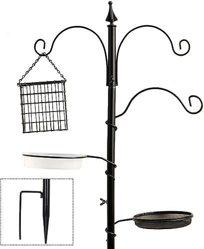 """popular yosager Premium Bird Feeding Station Kit, 72"""" x 21"""" Bird Feeder Pole, online sale A Multi Feeder Hanging Kit wholesale with Metal Suet and Bird Bath for Attracting Wild Birds, Birdfeeder and Planter Hanger online sale"""