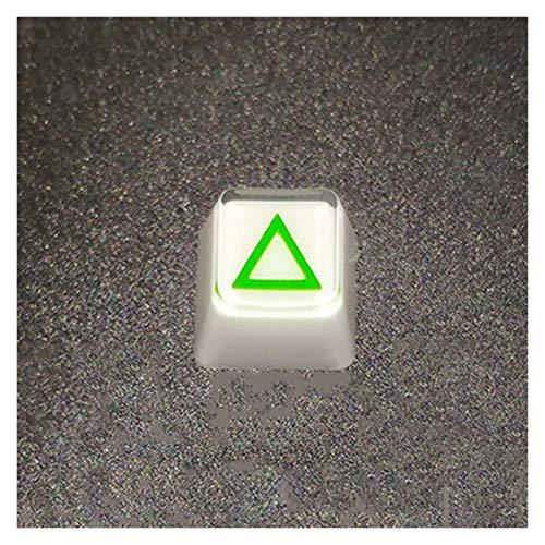 WULE-RYP DIY PS4 Manija Diseño Retroiluminación Reinlight Resin CLEWCAPS Teclado mecánico Key Cap Reemplazar el Color Blanco del OEM (Color : Keycap1)