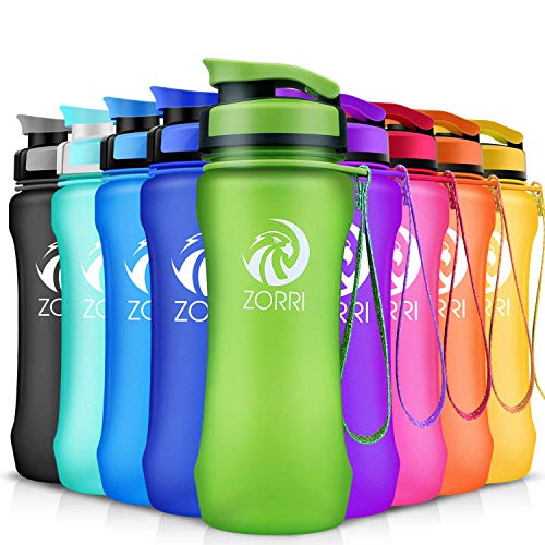 ZORRI Sports Water Bottle 20oz/1000ml, Leak Proof BPA Free Eco-Friendly Drink Best Water Bottles with Flip Top Lid & Filter Opens with 1-Click, for Travel/Hiking/Camping/Outdoor/Running/Gym