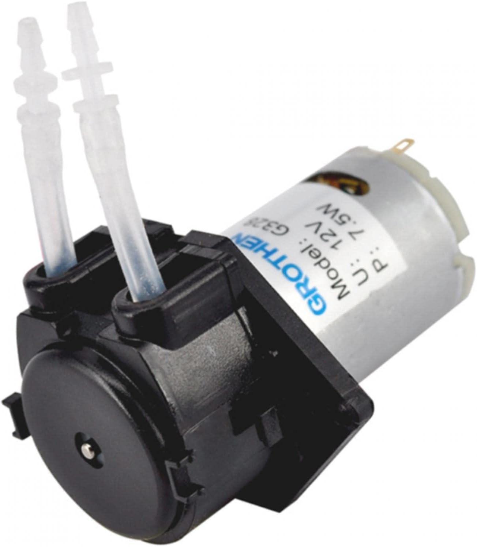 QOTSTEOS Bomba dosificadora de Bomba de líquido peristáltica DIY, Tubo de análisis químico peristáltico DC 12V / 24V para Bomba dosificadora de Laboratorio de Acuario(12V,Size:2 * 4)
