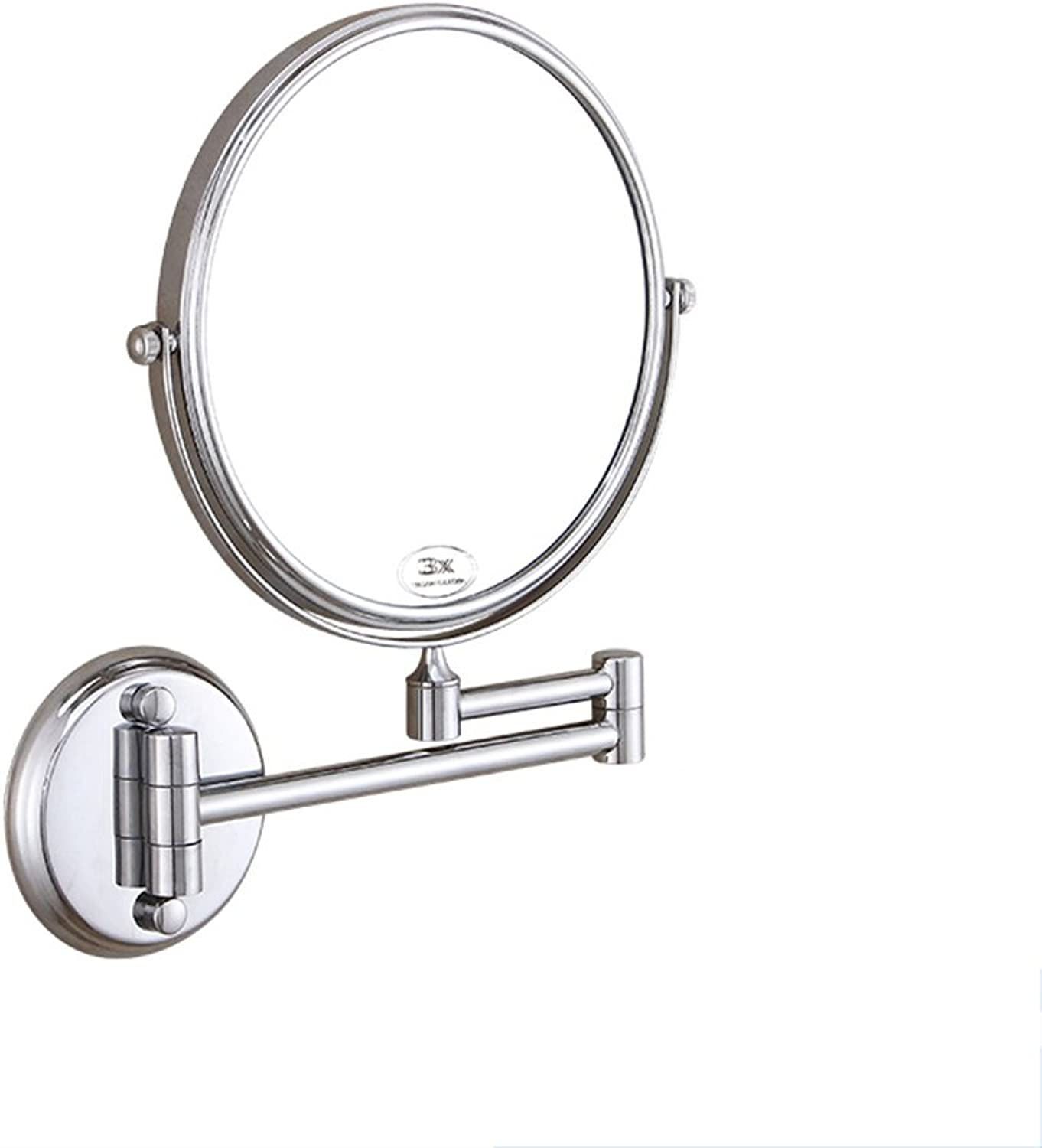 Bathroom Mirror Wall-Mounted Mirror Round Double-Sided Magnifying Glass 1x 3X Folding Beauty Mirror Drilling Inssizetion