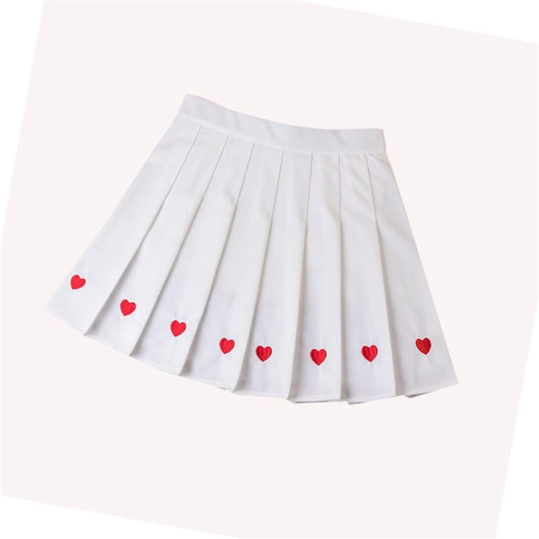 LSXLSD Fashion Women Pleated Skirt High Waist Woman Mini Skirts Summer Harajuku Female Short Skirts Casual A-Line Ladies Dance Skirt (Color : White5, Size : Small)