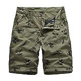 GHC Playa Bermudas Nuevo Bolsillo Casual Pantalones Cortos Hombres Hombres Pantalones Cortos de Carga nuevos Pantalones Cortos tácticos Hombres Verano algodón Suelto Trabajo Masculino tamaño 30-38