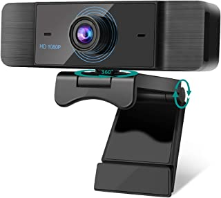 Webcam with Microphone, AIMASON 1080p HD Web Cam with Auto Light Correction for PC Desktop & Laptop with Mic, USB 2.0 Plug...
