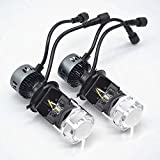 H4 LED ヘッドライト miniプロジェクターレンズを付き Hi/Lo切替型 180W 18000LM 6000K 二個セット