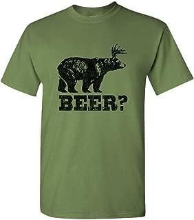 Retro Deer Beer Bear - Mens Cotton T-Shirt