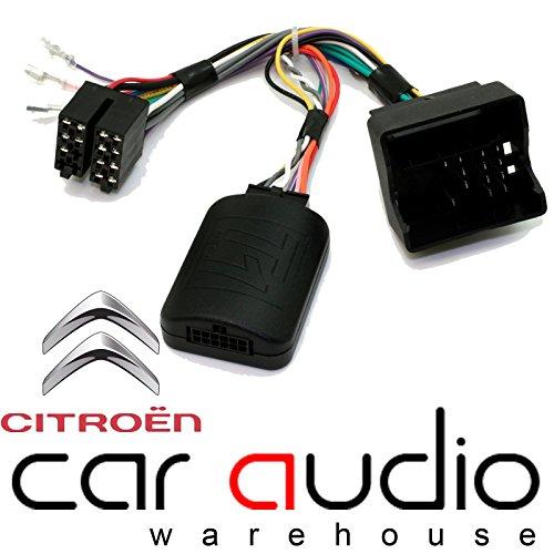 T1 Audio t1-ct3 – Citroen C2, C3, C4, C5 MKII, C8, DS3, C3 Picasso, C4 Picasso, Berlingo Auto Lenkrad Schalthebel Steuerung Schnittstelle Adapter mit freiem Patchkabel