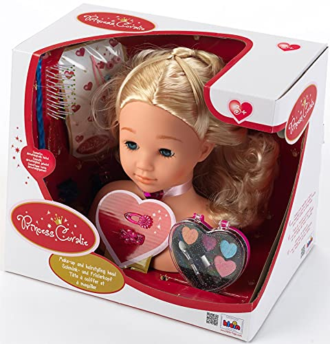 Princess Coralie Theo Klein 5236 Make-Up and Hairstyling Head (25 cm)