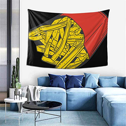 Fast Foods French Fries Tapestry,Bohemian Tapestry Wall Hanging Tapestries Tablecloths - Decorations Home Decr Art Blanket for Living Room Bedroom Dorm Room 40x60 Inches