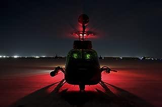 Posterazzi Pilots Prepare for Takeoff in an OH-58D Kiowa Warrior on Camp Speicher Iraq Poster Print, (34 x 23)