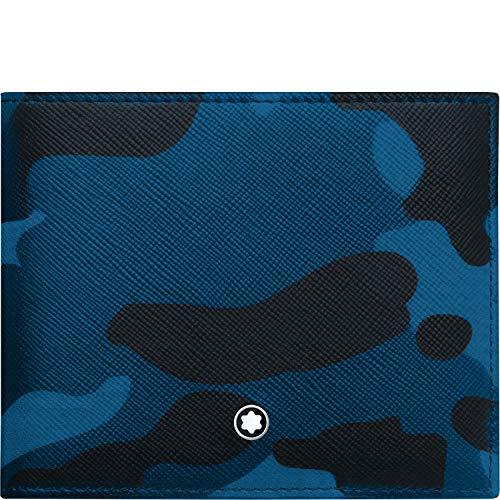 Montblanc 118674 Sartorial - Cartera, diseño de Camuflaje, Color Azul