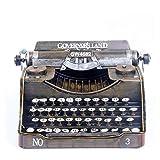 Macchina da scrivere retrò Handmade Metal Crafts Vintage Typer Antico Marcatura Modello di Figurina Prop Regalo Home Decor