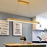 Lámpara Colgante LED Mesa de Comedor Madera Iluminación Colgante Regulable con...