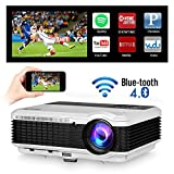 Bluetooth Wireless Home Theater Proyector de techo Wifi Airplay HD 1080P Soporte LED LCD Smart Android Proyector de películas Bluetooth 4800 Lumen HDMI USB para videojuegos