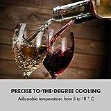 Klarstein Shiraz Weinkühlschrank - Volumen: 42 Liter, Temperaturen: 5-18 °C, Platz für 16 Flaschen Wein, Energieeffiezienzklasse A, Soft-Touch-Bedienfeld, 3 Regaleinschübe, freistehend, schwarz - 2