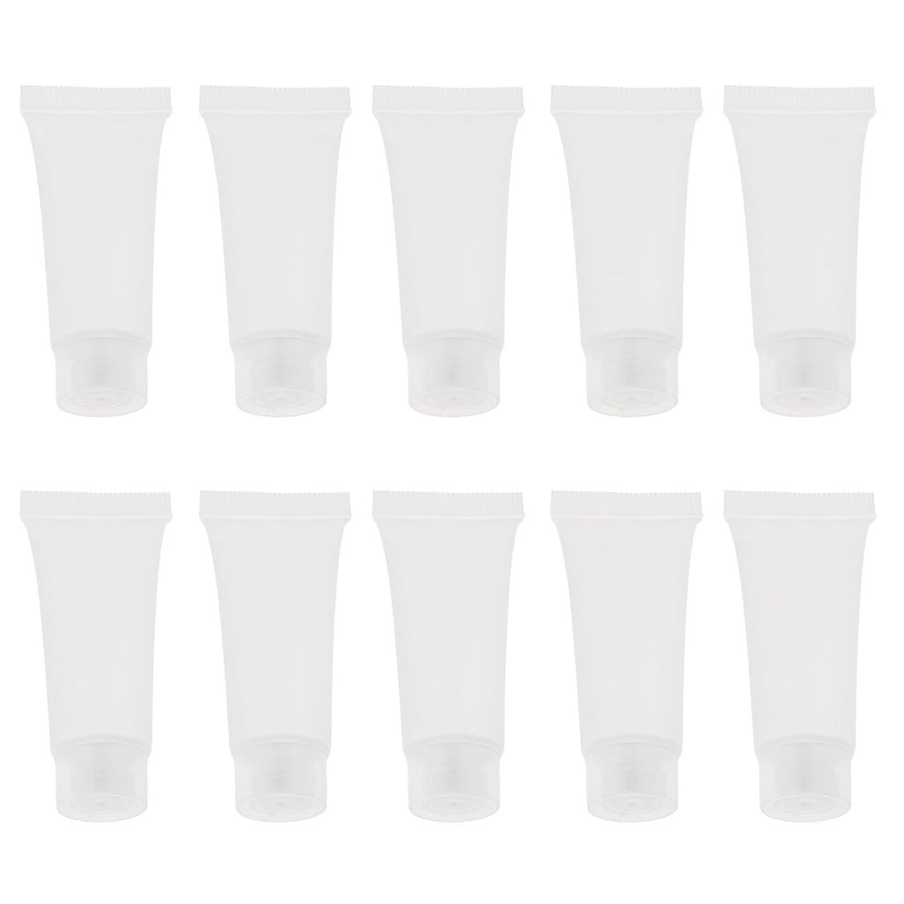 味わうボーダークアッガBaosity 10個 空チューブ クリームチューブ 空ボトル コスメ 香水 オイル 詰替え DIY スキンケア 2サイズ選べる - 10g