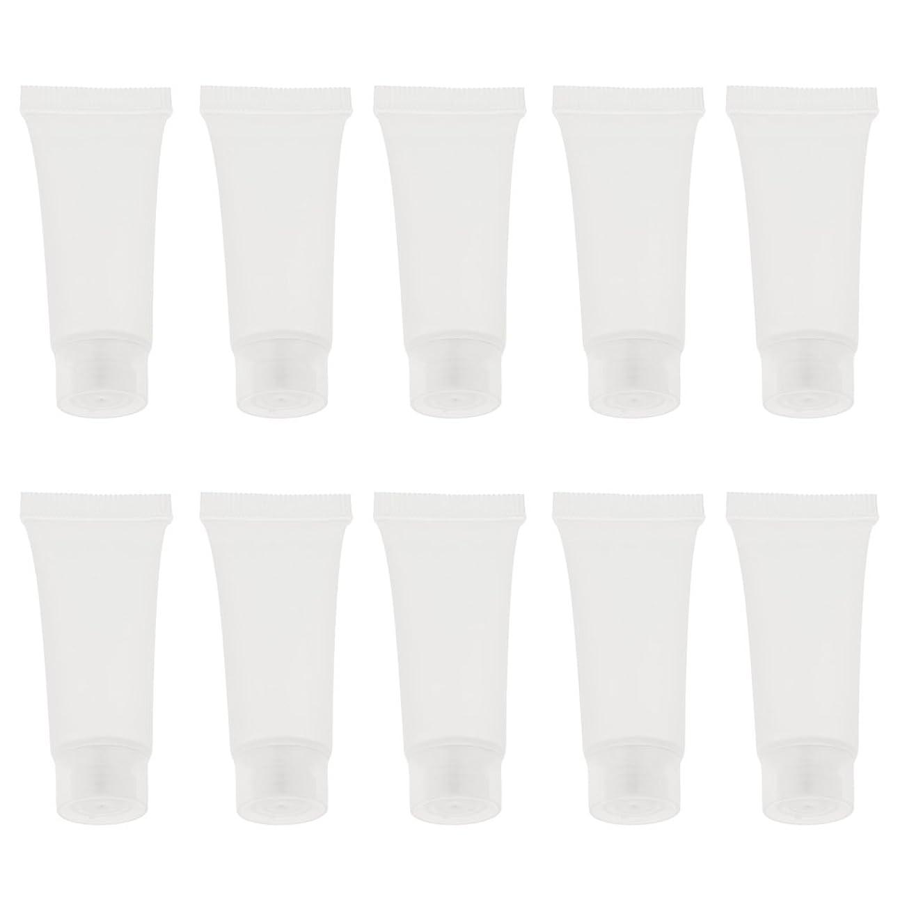 カメピアノを弾くリーズBaosity 10個 空チューブ クリームチューブ 空ボトル コスメ 香水 オイル 詰替え DIY スキンケア 2サイズ選べる - 10g