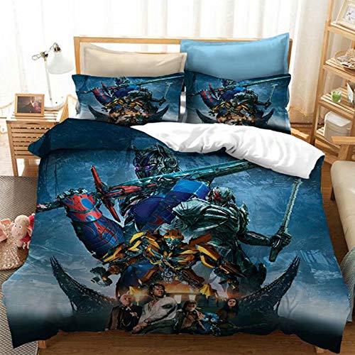 Boys Duvet Cover Set 2PCs Transformers Bedding Bumblebee Optimus Prime Decorative Microfiber Quilt Cover Twin, Pattern 7