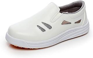 Levoberg Chaussure de Cuisine Protection d'eau et d'huile Chaussure de Travail Respirante pour Homme Femme