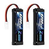 Zeee 7.2V 4200mAh NiMH Battery with Tamiya Connector High Power for RC Car Truck Associated HPI Losi Kyosho Tamiya Hobby(2 Pack)