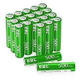 EBL - 20 pilas recargables solares AAA 500 mAh 1,2 V Ni-MH con...
