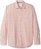 Amazon Essentials - Camicia da uomo a maniche lunghe, slim fit, in popeline casual, Coral/...