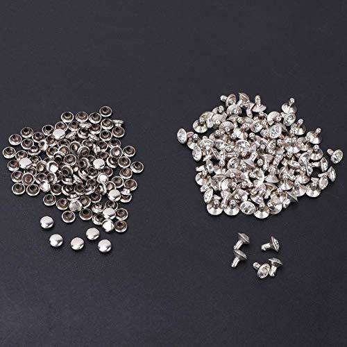 Cristal de 6/7(Tube drill silver edge + white diamond, 7mm)