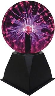 Luz de Bola de Plasma, Lámpara de Esfera de Iones Bola Sensible al Tacto de 5 Pulgadas Luz Roja Novedad Luces Nocturnas