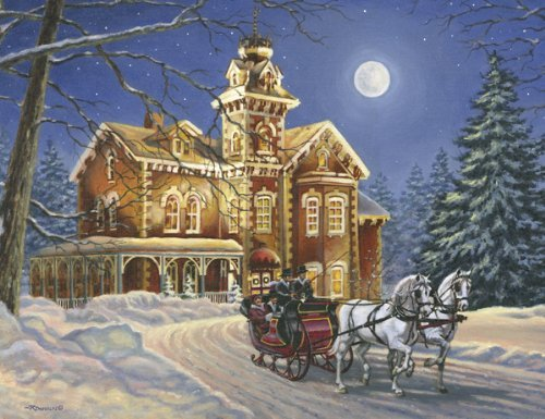 Moonlight Travelers 350 Piece Jigsaw Puzzle by