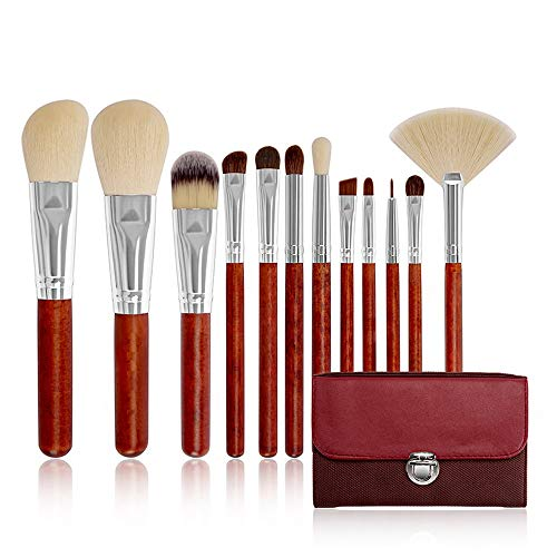 Pinceaux Premium 12 PCS Synthétique Bambou Bois Blush Foundation Ombre À Paupières Eyeliner Bronzer Maquillage Pinceaux Ensembles Beauté du visage